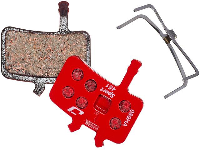 Jagwire Sport Semi-Metallic Schijfremblokken voor Avid BB7/All Juicy Modellen 1 Paar, red